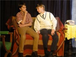 Nick Dauley (on left) as Georgie in Over the Tavern