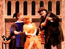 John Mincks as Lucentio, McLean Jesse as Bianca and Jeffrey Cole as Hortensio