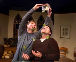 Chris Hester (as Tom) and Chris O'Neill (as Brandt) share a joyous moment