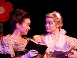 Audra Honaker as Gwendolen Fairfax and Aly Wepplo as Cecily Cardew