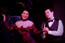Audra Honaker as Gwendolen Fairfax and Thomas Cunningham as Jack Worthing