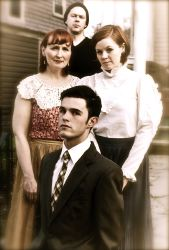 Dean Knight as the older Tom, McLean Jesse as Laura, Deejay Gray as (younger) Tom, and Terry Menefee Gau as Amanda