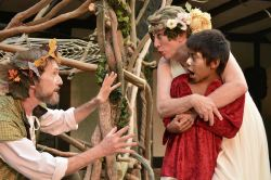John Moon as Oberon, Melissa Johnston Price as Titania and Paxton Martinez as the boy