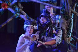 Melissa Johnston Price as Titania, David White as Bottom