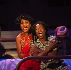 Carolyn Minor-Daughtry as Shug and Felicia Curry as Celie