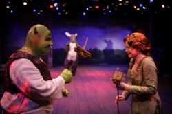 Jason Marks (Shrek) and Aly Wepplo (Fiona)