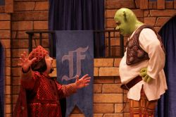 Robert King (Lord Farquaad) and Jason Marks (Shrek)