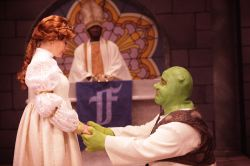Aly Wepplo (Fiona) and Jason Marks (Shrek)